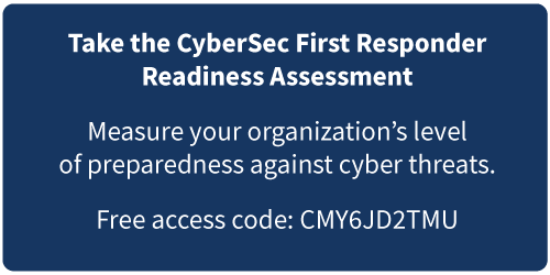 CyberSec First Responder Readiness Assessment
